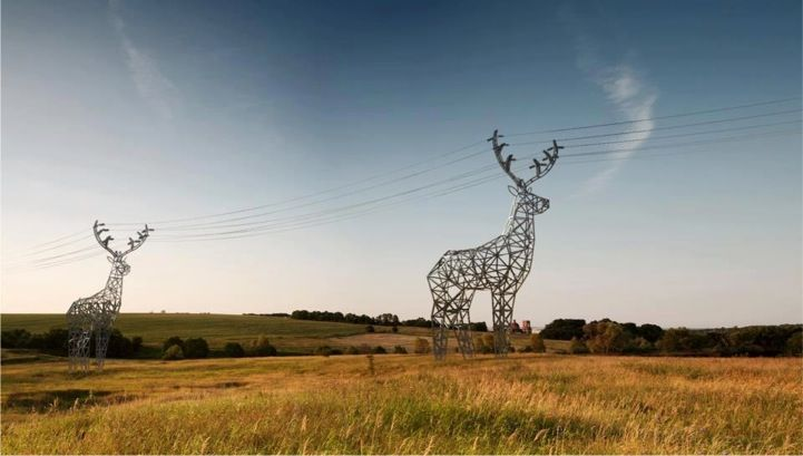 Deer-Shaped Electrical Towers