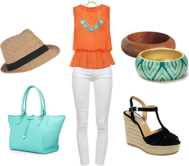 Orange & Aqua-This is an awesome cruise outfit!!!