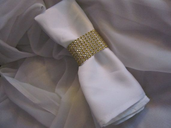 SOLD IN MULTIPLES of 20 Napkin Rings Gold by RocheleauDesigns