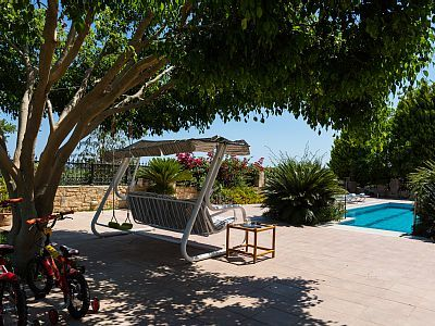 Rethymno villa rental - A swing is also available at the garden.