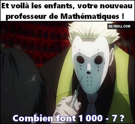 Le nouveau professeur de mathématique !