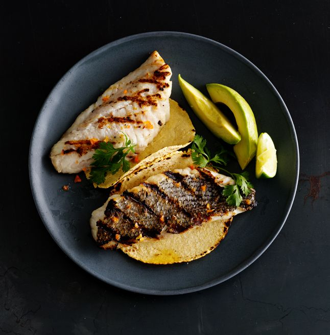 Black Sea Bass with Chile Salt by Kevin Morrison, bonappetit #Black_Sea_Bass   Delicious idea for a delicious, healthy dinner.
