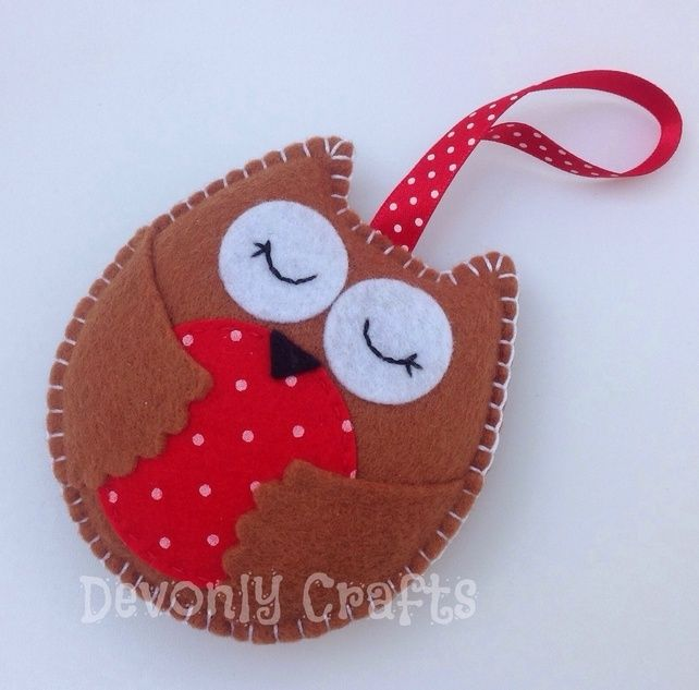 Christmas Owl Felt Decoration x1 £5.50