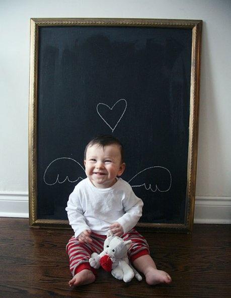 I like the chalkboard idea. I'd write the child's name and age!