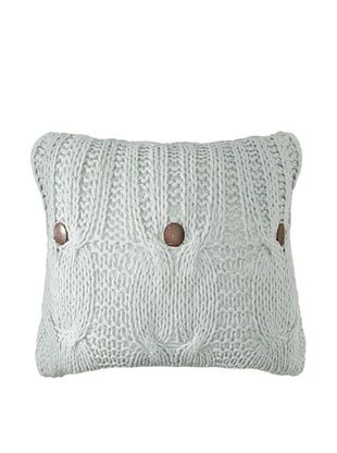 54% OFF Amity Cable Knit Pillow, Aqua, 20
