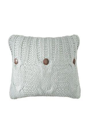 54% OFF Amity Cable Knit Pillow, Aqua, 20