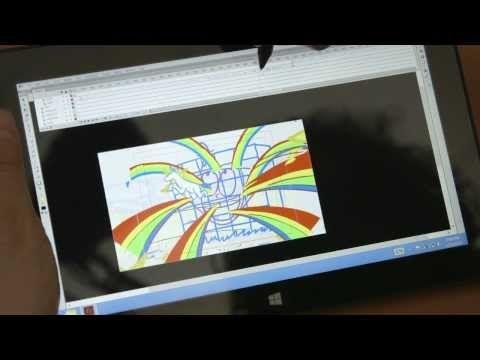 Behind the Scenes with Christy Karacas με το Surface Pro πρώτης γενιάς - http://iguru.gr/2013/09/24/behind-the-scenes-with-christy-karacas/
