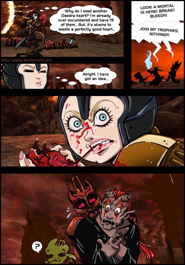 TESIV Oblivion: Daedra Heart Eater by Padzi on deviantART