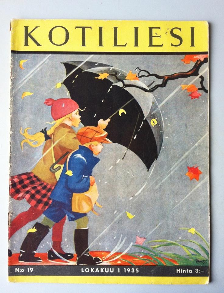 Kotiliesi, october 1935 cover by Martta Wendelin