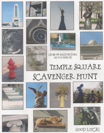 Temple Square Scavenger Hunt