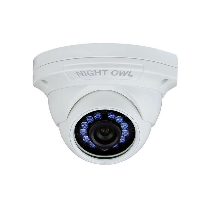 Night Owl 1080p HD Analog White Audio Enable Dome Camera with 100 ft. Night Vision and 60 ft. of Cable