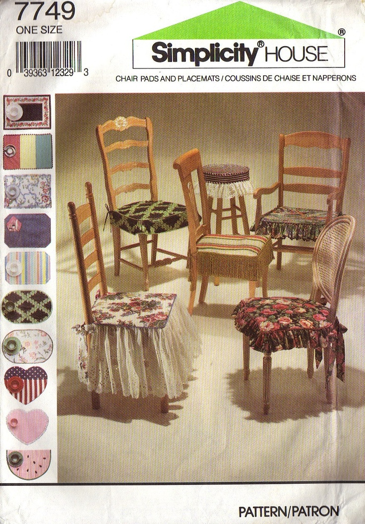 VINTAGE CHAIR PADS And Placemats Pattern