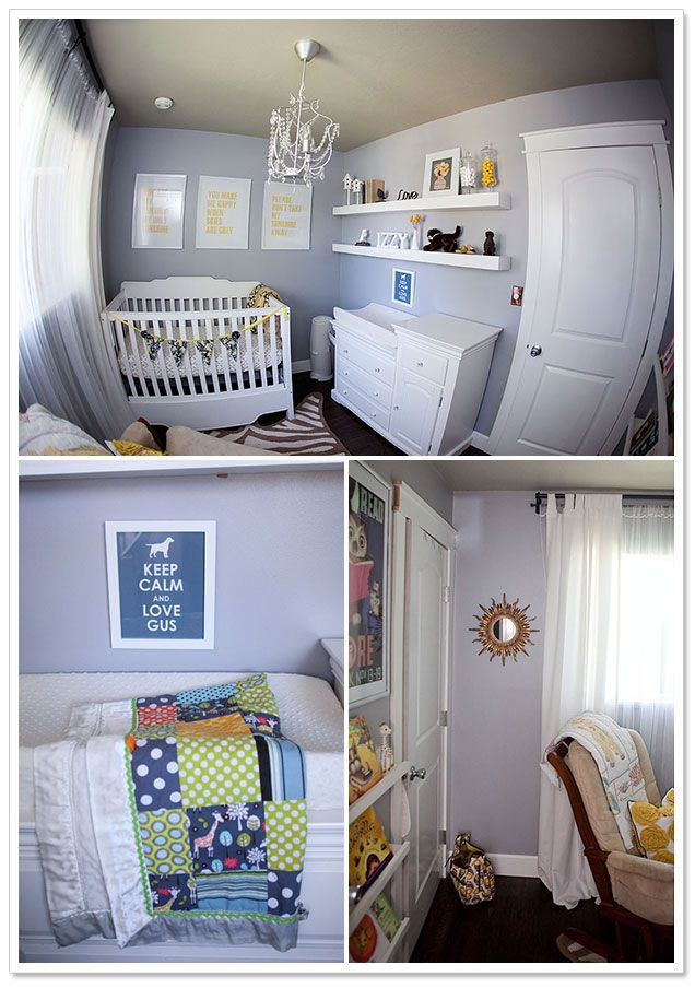 Gray, White   Yellow Nursery by Crissie McDowell