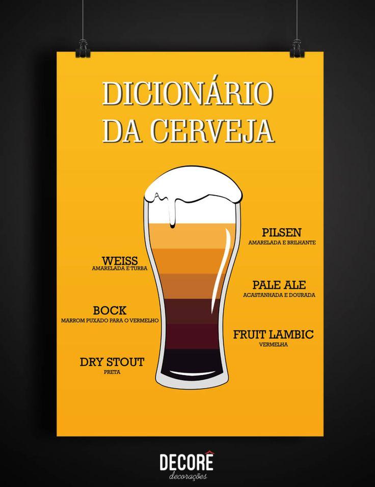 Pôster Dicionário da Cerveja A3 - 2085955 | enjoei :p