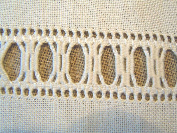 Drawn Thread and Needlewoven border ~ embroidered by Silvana of Il Piacere del ricamo