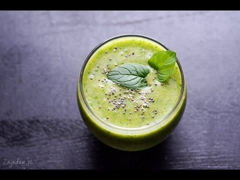 Dietetyczny koktajl owocowy ze szpinakiem