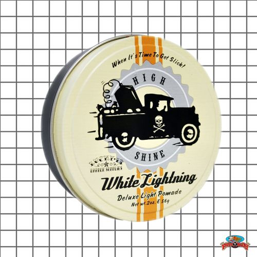 Shine a light with this White Lightning Light Pomade by Lucky 13 at www.ruffnready.com.au #RuffnReadyaus #rockabilly #Lucky13 #pomade #hairprod