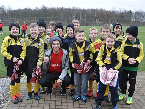 @/drfc_official: Worksop Town u9's visit Rovers' Training Ground as part of Rovers Group Experience Prize;