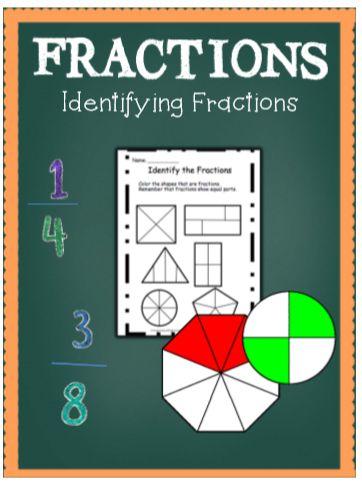 FREEBIE! Identifying fractions.