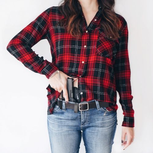 Concealed Carry in Flannel Shirt for Women