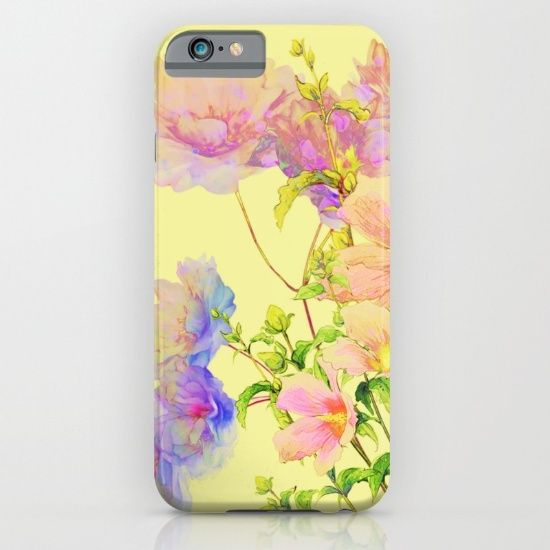 soft pastel floral iPhone & iPod Case