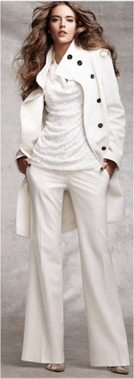 Beautiful winter white outfit!!!