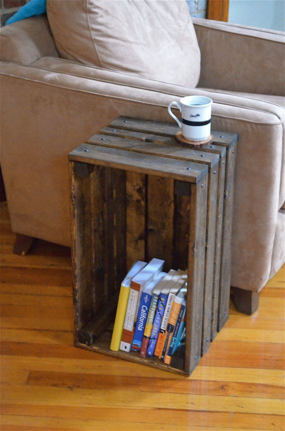 Best crate side table ideas on pinterest