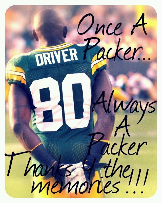 Donald Driver...you will forever be my favorite football player! Thank you for all you have done for Green Bay, and people in need in our area and others.