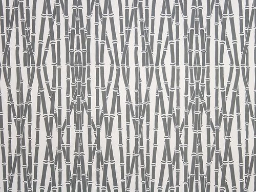 Bamboo Forest in Graphite on Off White