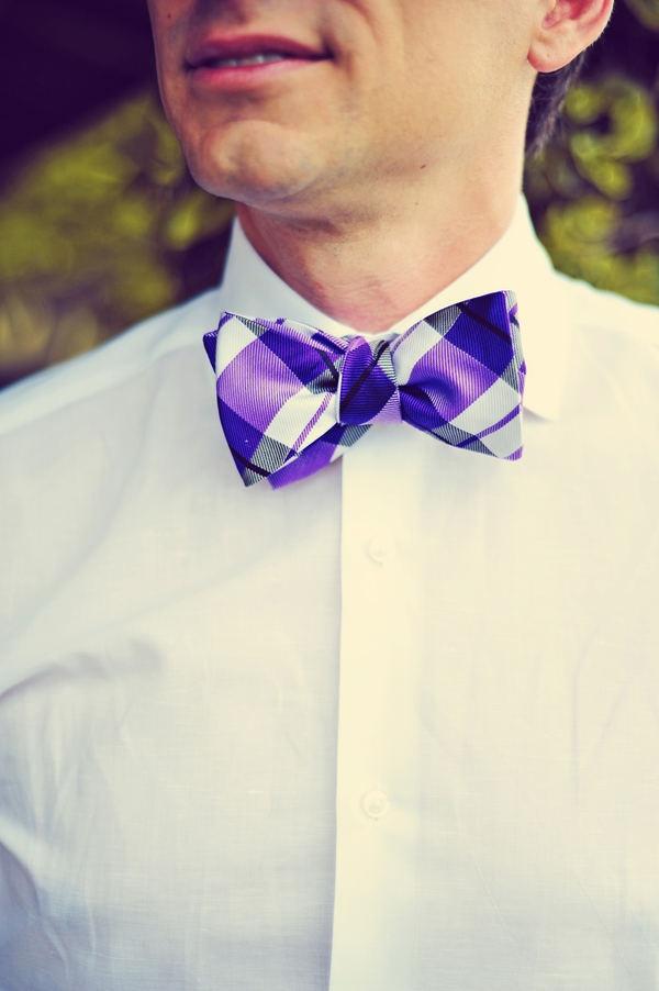 Purple plaid bow tie. www.macardi.com