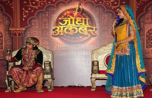 Rajat Tokas and Paridhi Sharma in Colors TV Serial Jodha Akbar Photos