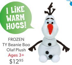 FROZEN TY Beanie Boo Olaf Plush from Indigo Books & Music $12.95