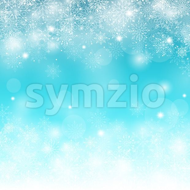 Stock vector of Blue Winter Snow Background Vector from $1.99. Winter snow background with different snowflakes vector illustrationhow can i...