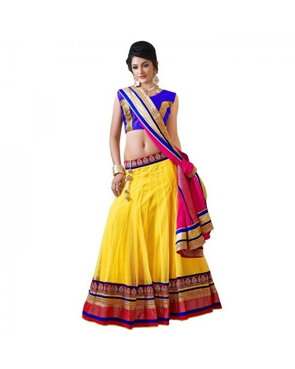 Yellow Stone Work Lehenga Just @Rs.4,654 55% OFF   Click Below To Buy:- http://www.ethnicstation.com/yellow-stone-work-lehenga-rc5512  #StoneWorkLehenga #OnlineSale