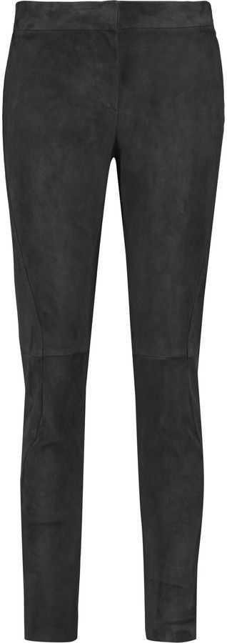 Brunello Cucinelli Suede skinny pants