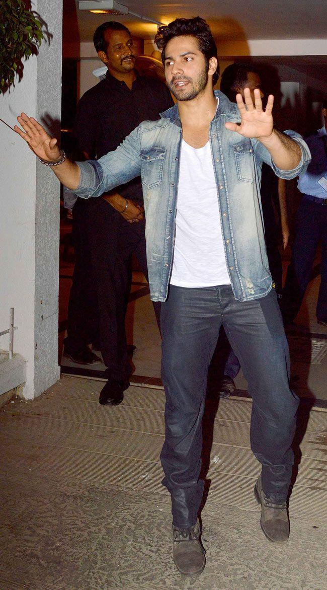 Varun Dhawan at Karan Johar's birthday bash. #Style #Bollywood #Fashion #Handsome
