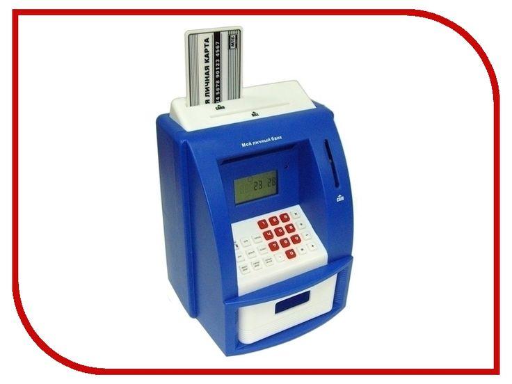 Копилка для денег Эврика Банкомат 91910 Blue
