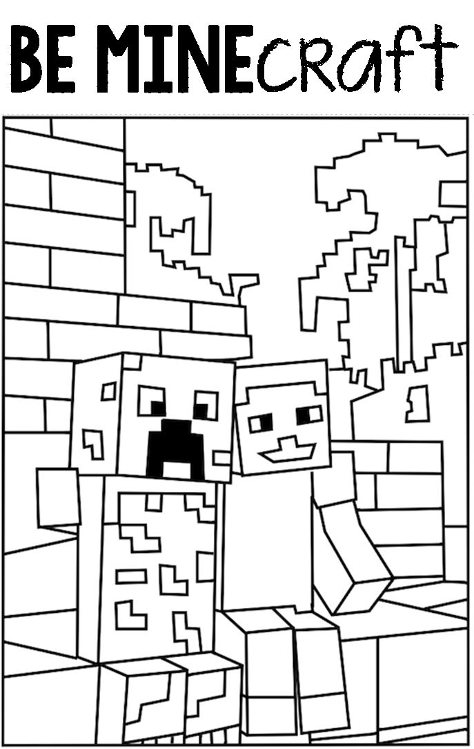 Printable Minecraft Creeper Coloring Pages