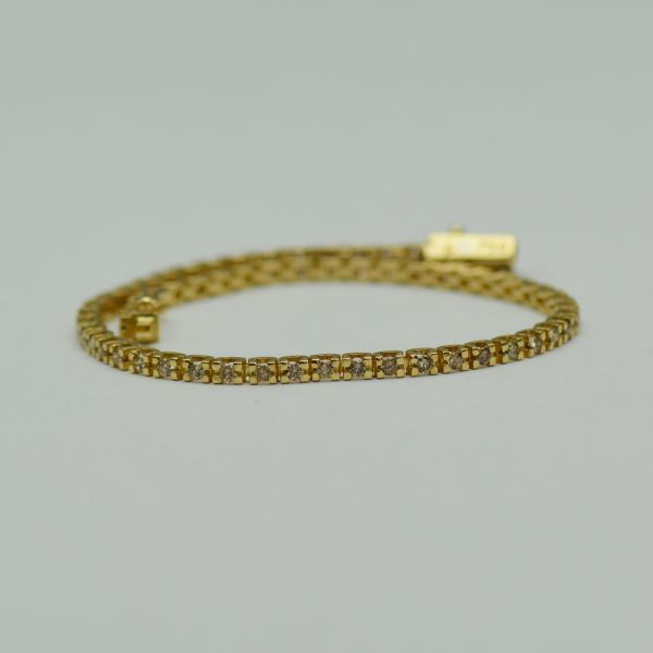 Bratara din aur galben cu diamante light brown  #bratariauralb #brataricudiamante #diamante #diamondbracelets #diamonds