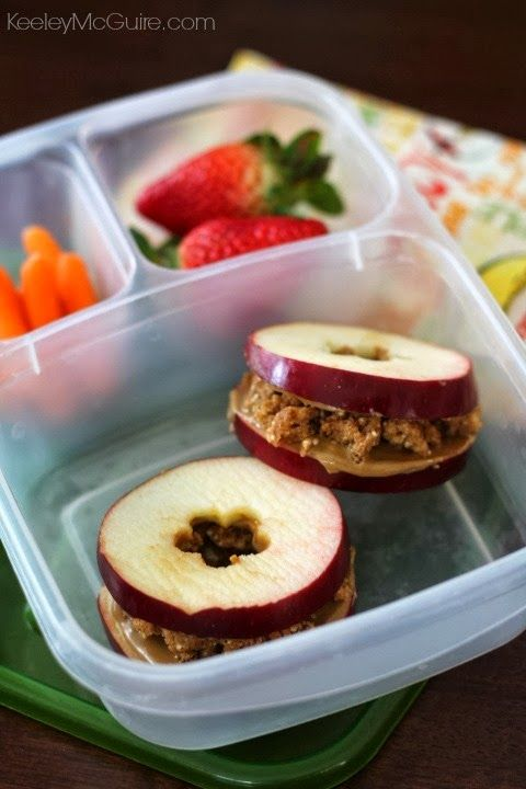 Applewiches packed for school lunches | with @EasyLunchboxes