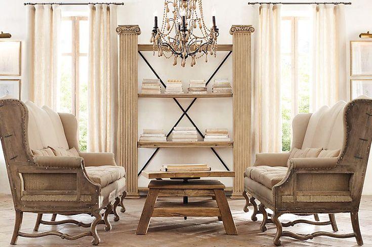 83 best restoration hardware livingroom images on pinterest - Restoration hardware living room ideas ...