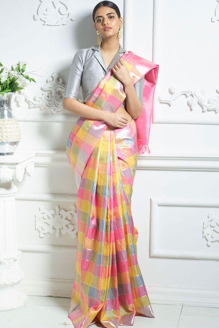 Multicolor Zari Woven Pure Kanchipuram Silk Saree-SR24220