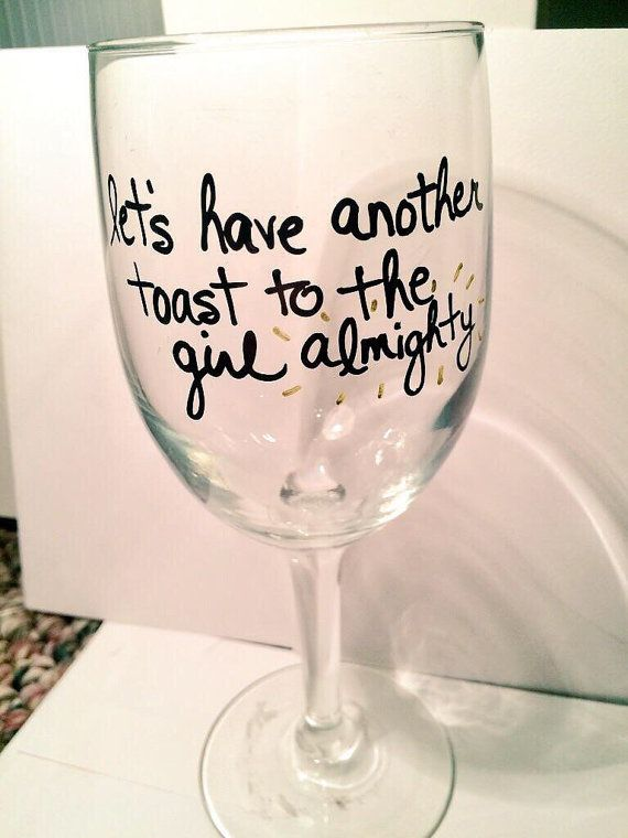 One Direction Girl Almighty wine glass by AngelasBoybandShop