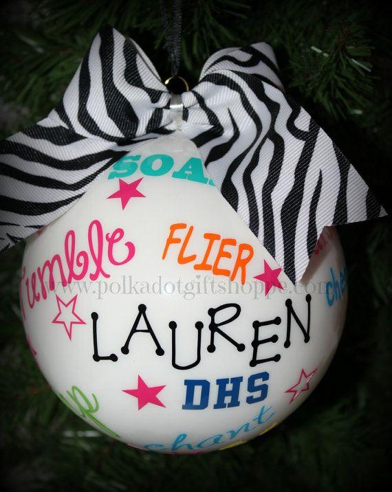 Cheer Ornament Christmas Gifts for Cheerleaders Cheerleader Gifts Cheer Football Season on Etsy, $23.99