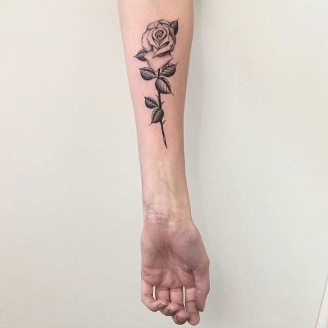 Simple Minimal Rose Arm Tattoo   http://tattoos-ideas.net/simple-minimal-rose-arm-tattoo/