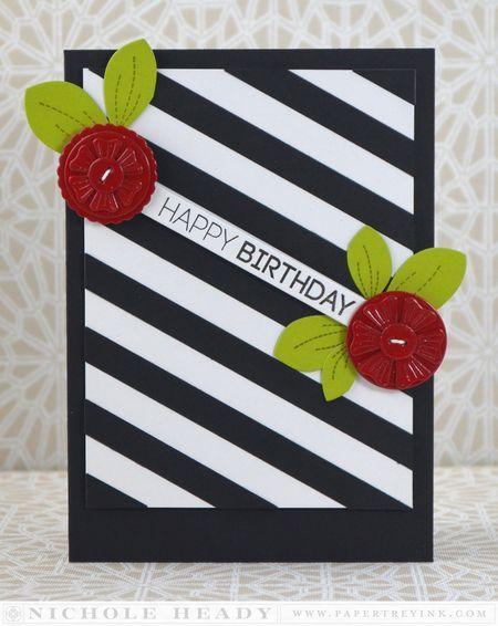 Bold Birthday Card by Nichole Heady for Papertrey Ink (February 2014)