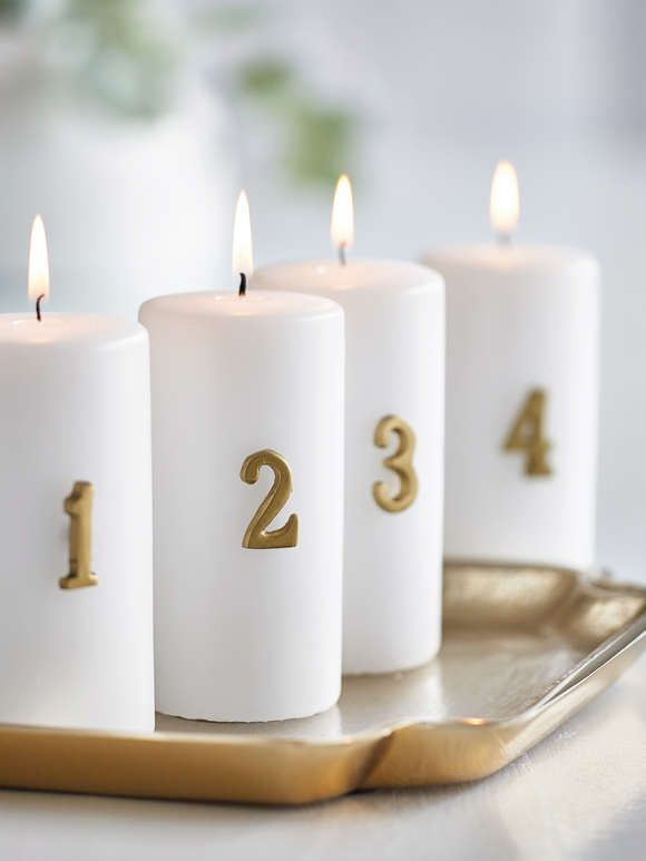 Distressed Gold Advent Candle Pin Set Advent Candles Candles