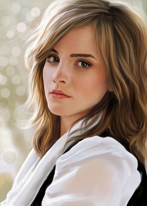 Emma's brown with blonde highlights is exactly what I would want for a colour.