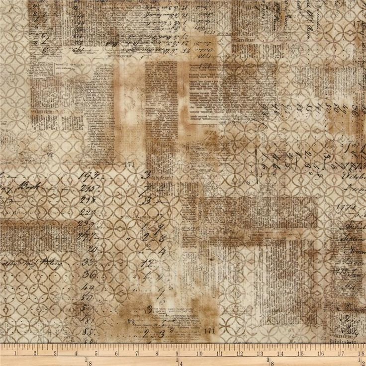 Tim Holtz Eclectic Elements Wallflower Ledger Multi from @fabricdotcom  Designed by Tim Holtz, this cotton print is perfect for quilting, apparel and home decor accents. Colors include shades of brown and black.