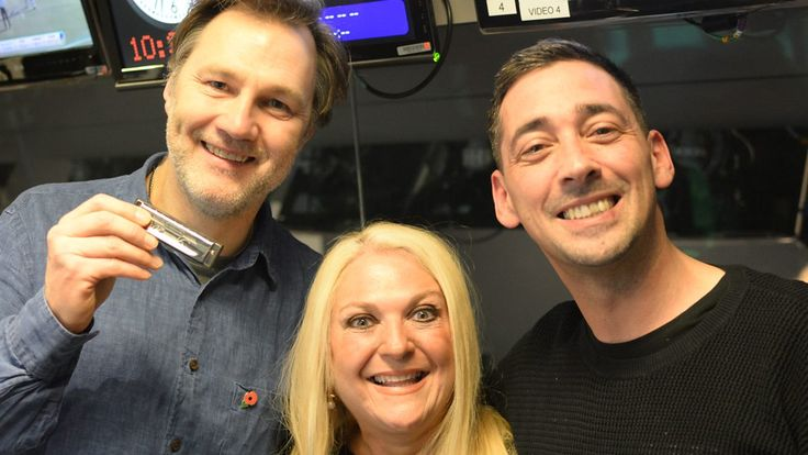 David Morrissey, star of BBC TV's The Missing, took to the harmonica for Vanessa Feltz.